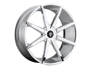 Dub S111 Push 24x9.5 6x135/6x139.7 +30mm PVD Chrome Wheel Rim