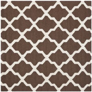 Safavieh Handmade Moroccan Cambridge Dark Brown/ Ivory Wool Rug (4