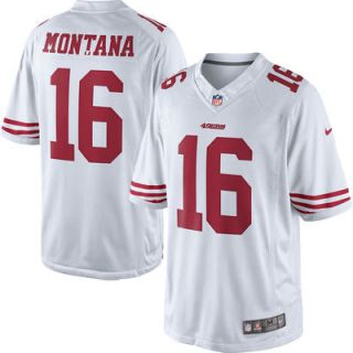 Joe Montana San Francisco 49ers Nike Retired Player Limited Jersey   White