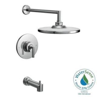 MOEN Arris Posi Temp Single Handle 1 Spray Eco Performance Tub and Shower Faucet Trim Kit in Chrome (Valve Not Included) TS22003EP
