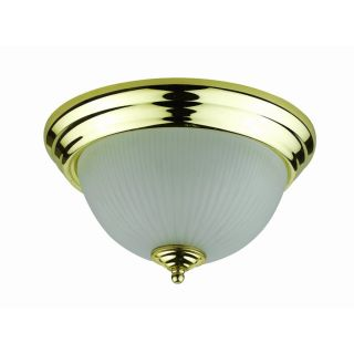 Axis 10 in W Brushed Steel Ceiling Flush Mount Light