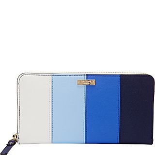 kate spade new york Cedar Street Stripe Lacey Zip Around Continental Wallet