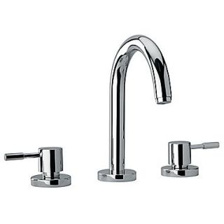 Jewel Faucets J16 Bath Series Two Lever Handle Roman Tub Faucet w/ Goose Neck Spout; Polished Chrome