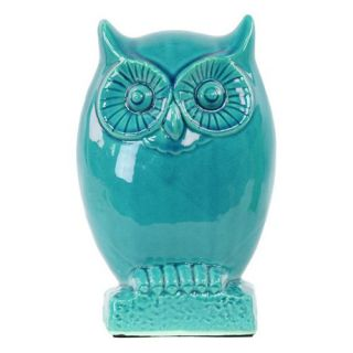 Urban Trends Ceramic Owl Figurine On Base   Sculptures & Figurines
