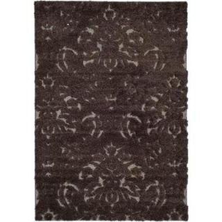 Safavieh Florida Shag Dark Brown/Smoke 5 ft. 3 in. x 7 ft. 6 in. Area Rug SG460 2879 5