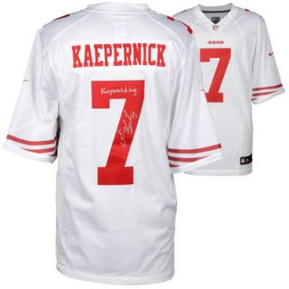 Colin Kaepernick San Francisco 49ers  Authentic Autographed White Nike Jersey with Kaepernicking Inscription