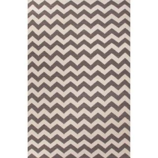Home Decorators Collection Flatweave Charcoal Gray 2 ft. x 3 ft. Geometric Area Rug RUG112246