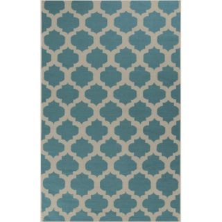 Surya Frontier Oatmeal/Sea Blue Geometric Area Rug