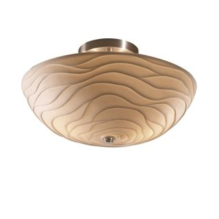 Justice Design Group Porcelina 2 light 14 inch Round Brushed Nickel