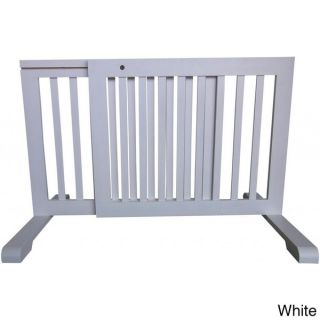 Free standing Adjustable Wood Pet Gate   15680596