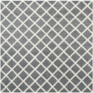 Safavieh Handmade Moroccan Chatham Dark Gray Wool Area Rug (7 Square